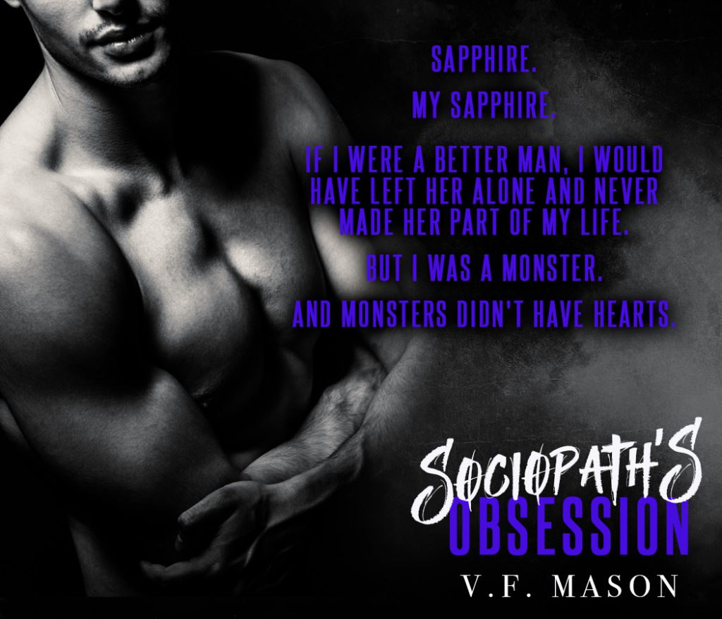 Sociopath's Obsession (Sociopath #1) by V.F. Mason Cover Reveal