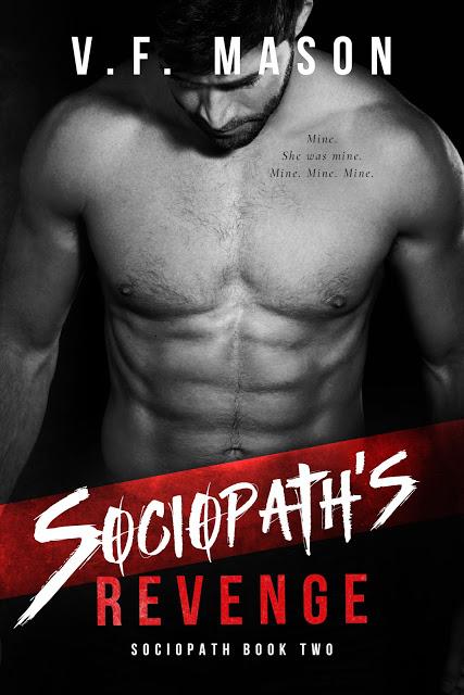 Sociopath's Revenge (Sociopath #2) by V.F. Mason Cover Reveal