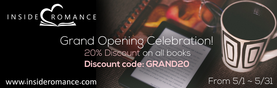Inside Romance Bookstore Grand Opening (with a 20% discount)